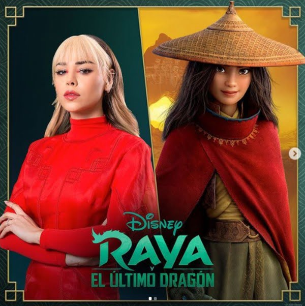 Danna Paola le dará su voz a Raya. Foto Instagram @dannapaola