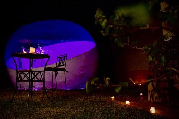 En el jardín privado del glamping se pueden vivir momentos inolvidables. Foto Cortesía