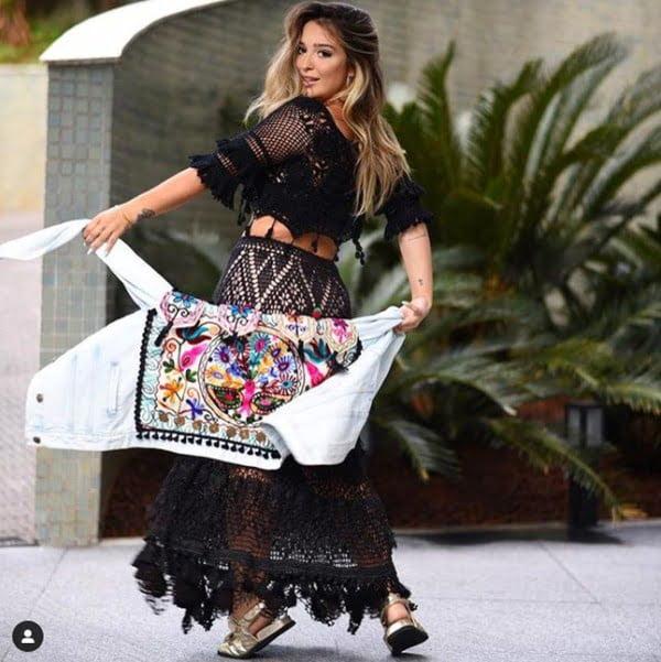 Las faldas largas y los maxivestidos son fundamentales en el hippie chic style. Foto Instagram @lianaleaodesign