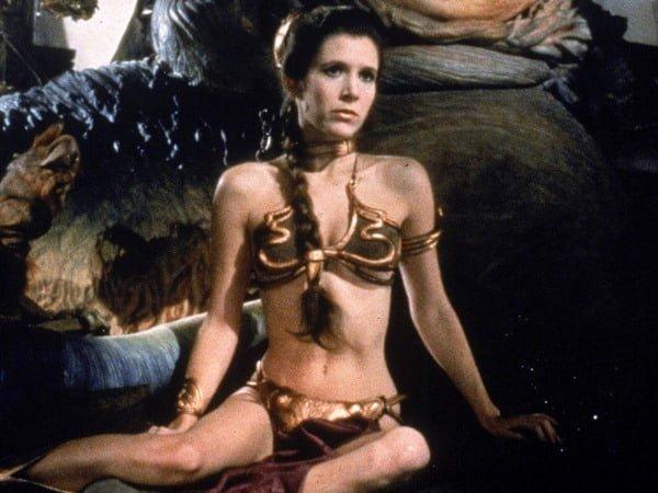 Leia usó un traje muy sensual