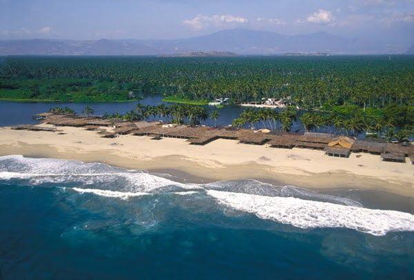 Una hermosa vista aérea de Pie de la Cuesta. Foto Cortesía